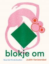 Pink monkey holding a green square with hands and feet